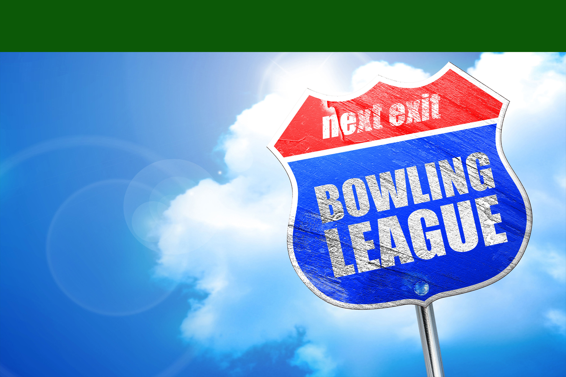 A street sign that says Bowling League